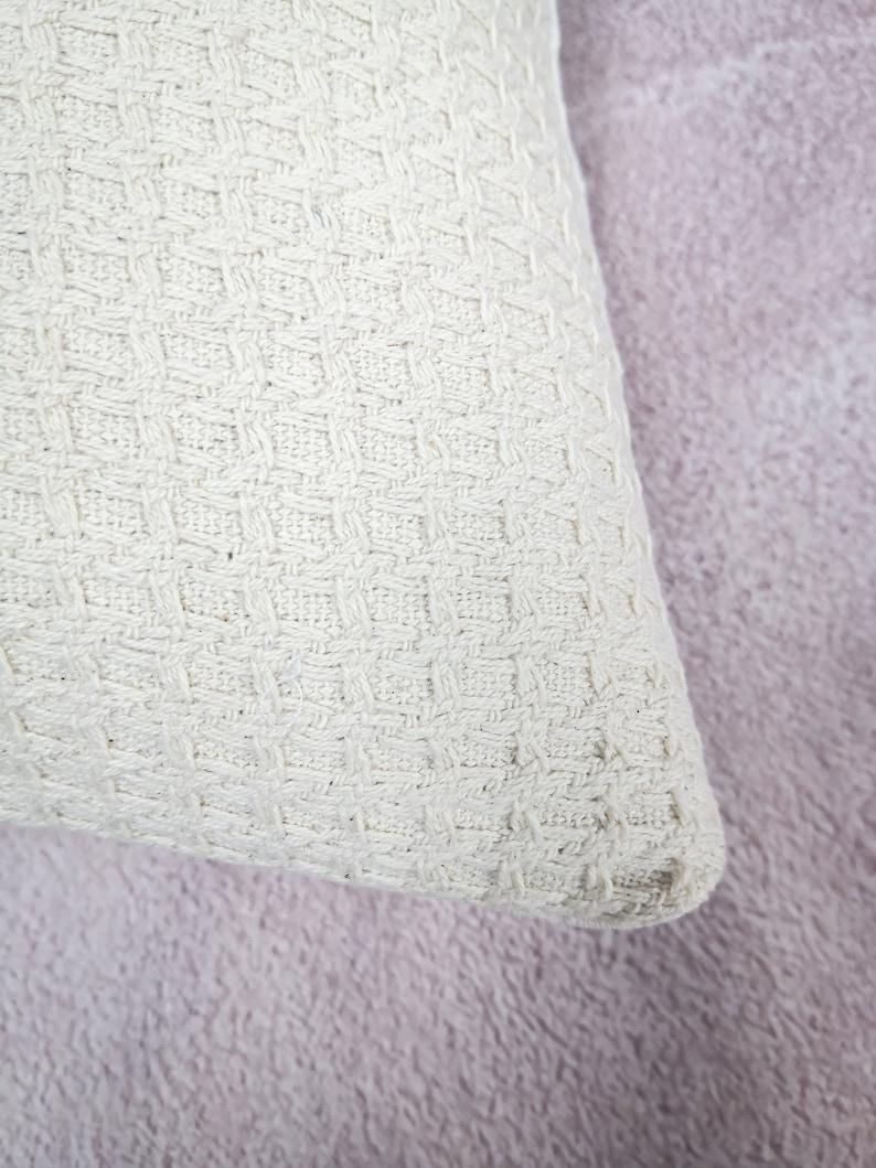 12x20 pillow minimal pillow Neutral knit pillow covers Cream lumbar pillow Hmong cream pillow Organic cotton knit farmhouse pillow