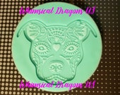 Pitbull Etched Keychain Silicone Mold, Resin mold, Keychain Mold, Pitbull Mold
