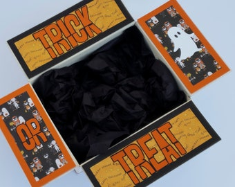 Care Package Decorative Kit/Halloween care package/October/deployment/military/missionary/college/box flaps/shipping decorative label/box