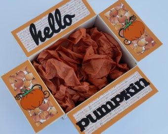Care Package Decorative Kit/Fall care package/pumpkin/November/deployment/military/missionary/college/box flaps/shipping decorative label