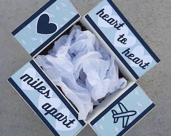 Care Package Decorative Kit/love care package/miles/apart/deployment/military/missionary/college/box flaps/shipping decorative label/box