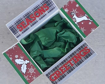 Care Package Decorative Kit/Christmas care package/holiday/deployment/military/missionary/college/box flaps/shipping decorative label/box