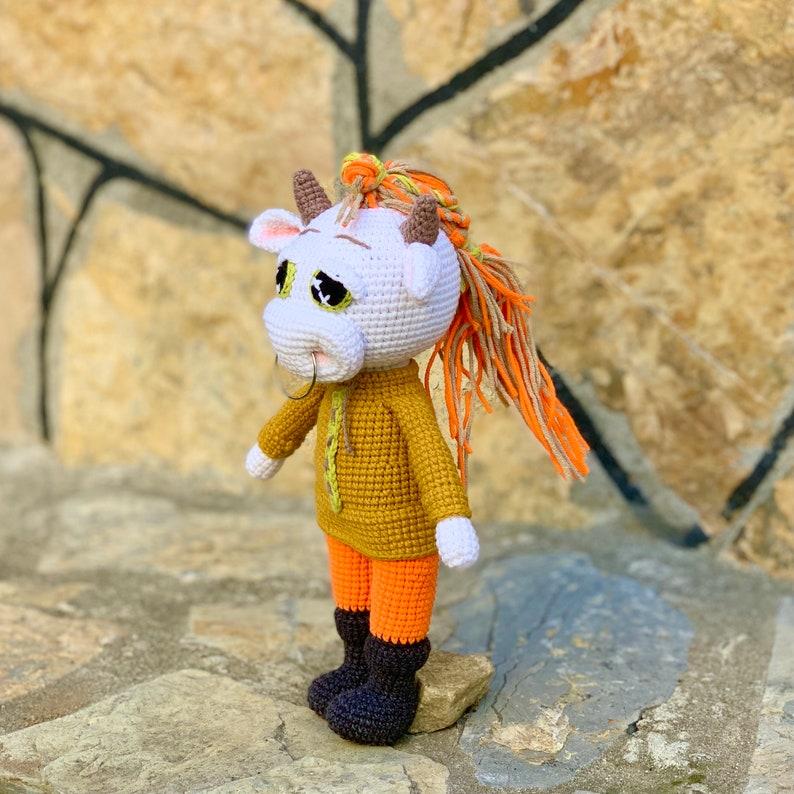 Viking ox crochet pattern PATTERN Bull crochet pattern White bull animal crochet pattern