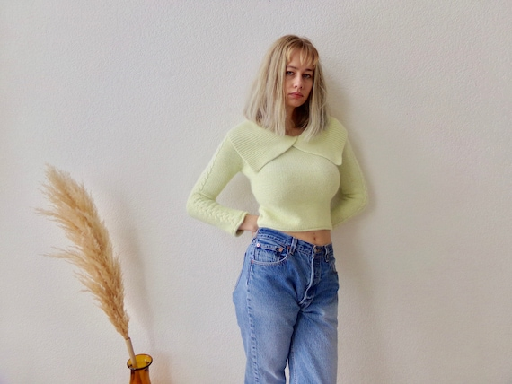 Vintage Angora Knit Sweater