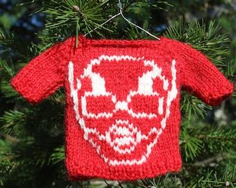 Batman or Batwoman Sweater OrnamentElf on Shelf SweaterComic BookSuperhero Fan Gift