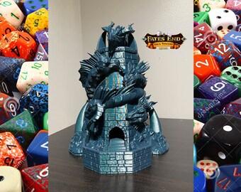 Fates End Tiamat Dragons Dice Tower 3D Print Dice Tower Dungeons and Dragons Dice Tower Dice Tray DnD Dice Tower DnD Dice Tray