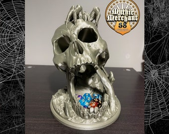Halloween Mythic Mugs Desert's Kiss Skull Dice Tower 3D Print Dice Tower Dungeons and Dragons Dice Tower Dice Tray DnD Dice Tower DnD