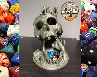 Mythic Mugs Desert's Kiss Skull Dice Tower 3D Print Dice Tower Dungeons and Dragons Dice Tower Dice Tray DnD Dice Tower DnD Dice Tray