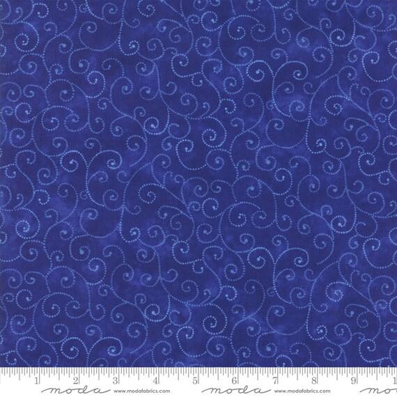 Marble Flannel Royal Blue Moda bty F6699