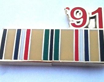 "Vintage  Antique Silk//Cotton GAR Flag Ribbon Military Medals Quilting 1 1//2/"""