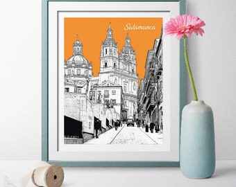 Valencia Spain Coordinates World City Travel Quote Wall Art Print