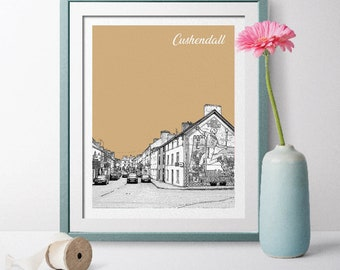 Ireland Travel Poster, Cushendall Travel Poster,  Cushendall Wall Art, Cushendall Landscape, Ireland Poster, Ireland Art Cushendall, Art