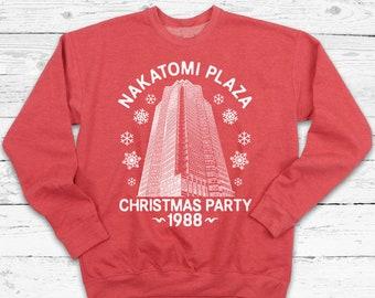 Mens Nakatomi Plaza Red Christmas Sweater