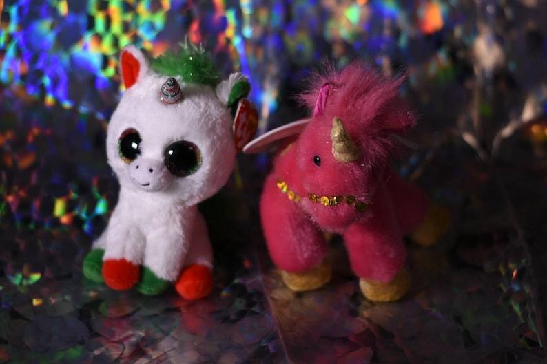 Skydancer unicorn Unicorn plush lot Christmas TY unicorn