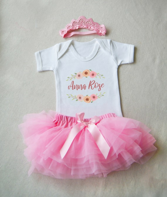 Baby Outfit Baby Name Girl Going Home Tutu Outfit 1st New Year Etsy