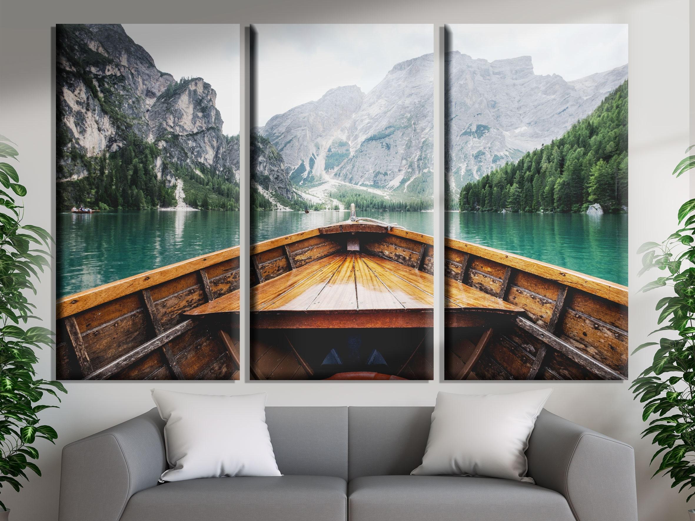Mountain Lake Art Mountain Landscape Canvas Print, used for sale