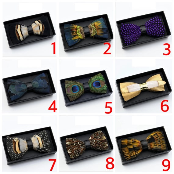Groomsmen Gift | Bowtie Up to 50/% off Handmade-Feather Bow tie with FREE Lapel Pin click to see other designs Wedding Groomsmen
