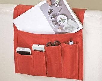 Cotton remote control caddy,bedside armrest storage organizer
