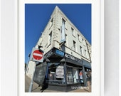 Action Records, Large Wall Art Print, Preston, Prestonian, Colour, Action Records Preston, Lancashire, Record Shop