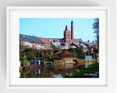 The Beauty of Lancaster Canal and Tulketh Mill, Large Wall Art Print, Preston, Prestonian, Colour, Tulketh Mill, Ashton, Lane Ends
