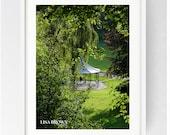 Rose Pagoda, Autumn Sunset, Miller Park Preston, Large Wall Art Print, Preston, Prestonian, Colour, Beautiful Print, Gift