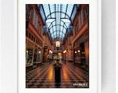 Miller Arcade, Large Wall Art Print, Colour, Black and White, Miller Arcade Interior, Architecture, Preston, Prestonian