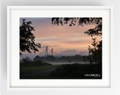 Preston North End,PNE, Colour, Large Wall Art Print, Preston, Prestonian, stunning sunrise over PNE, Moor Park, Lancashire, Football