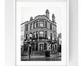 Black Horse Pub, Black Horse Hotel, Large Wall Print, Black and White, Preston, Lancashire