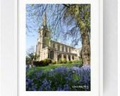 St Ignatius Church Preston, Syro-Malabar Cathedral of St. Alphonsa, Large Wall Art Print, Preston, Prestonian, Colour, Spring, St Ignatius