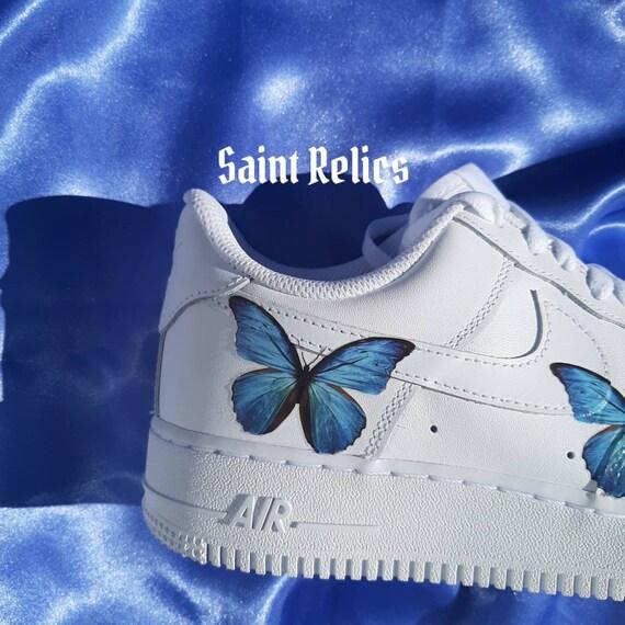 Blue butterfly Custom Nike Air force 1 AF1
