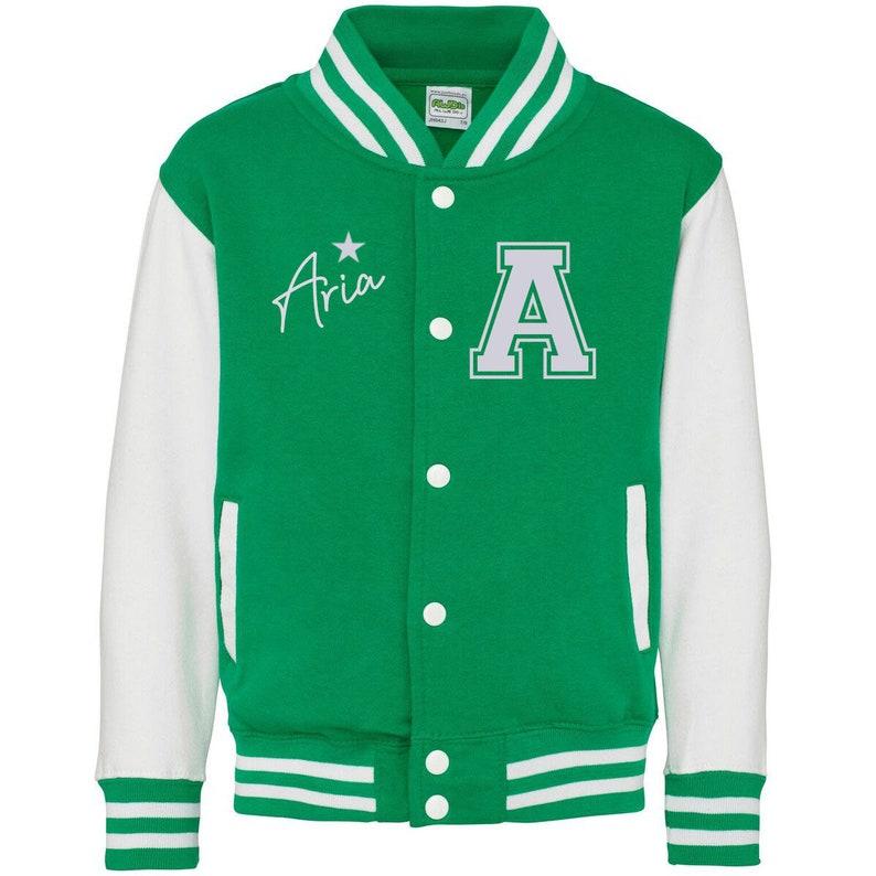 Children/'sKids Personalised Varsity Jacket Ideal gift Christmas Birthday