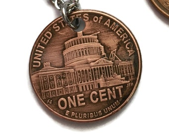 2009 Handmade Lucky Lincoln Penny Necklace OOAK Jewelry - Commemorative - Birth Year - Rare Collector's Edition Anniversary US Capitol Dome