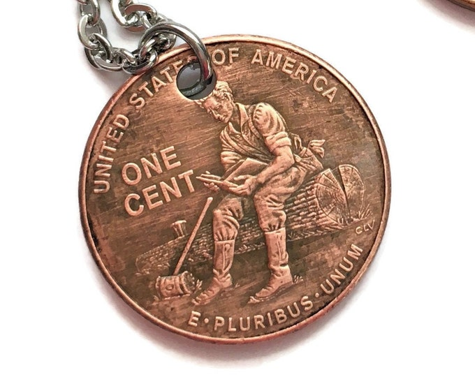 2009 Handmade Lucky Lincoln Log Penny Necklace - OOAK Jewelry - Pennies from Heaven - Birth Year - Rare Collector's Edition Anniversary
