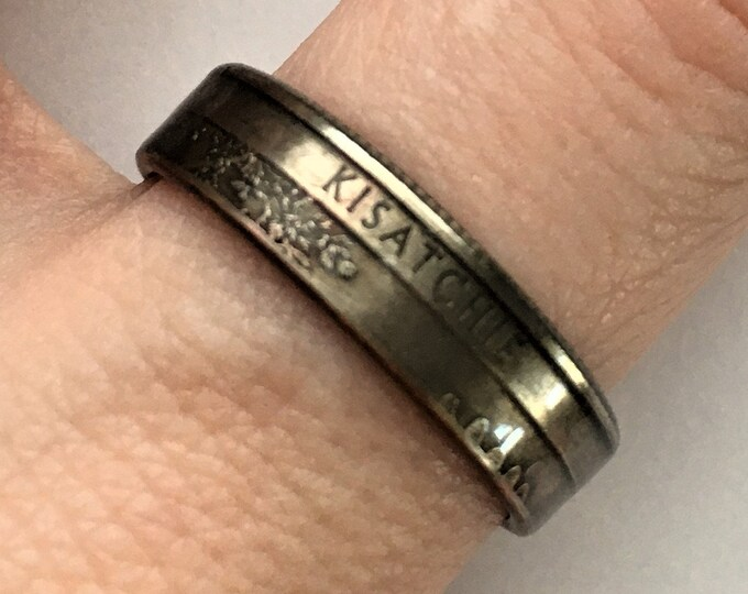 2015 Louisiana US State National Parks Quarter Coin Ring - Antiqued - Sealed - Gothic Dark Souls Supernatural Cosplay