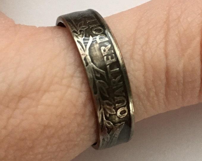 1996 US Washington Quarter Coin Ring - Vintage - Sealed - Gothic Dark Souls Supernatural Cosplay - Birth Year Gift