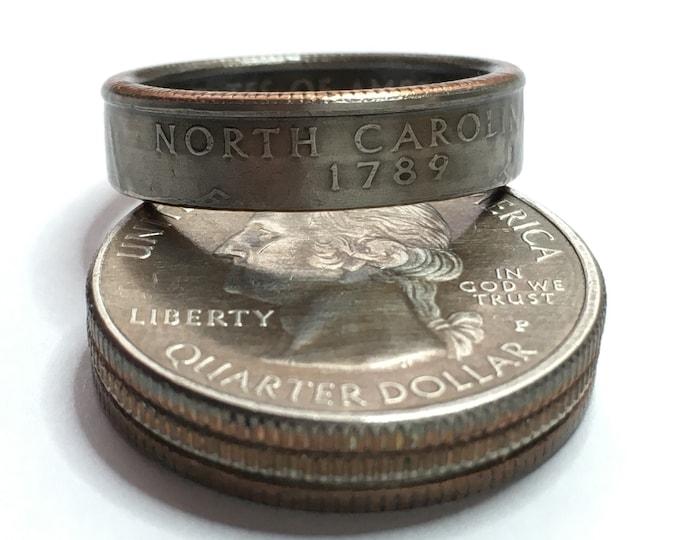 2001 North Carolina US State Quarter Coin Ring - Antiqued - Sealed - Gothic BOHO - Dark Souls Supernatural Cosplay
