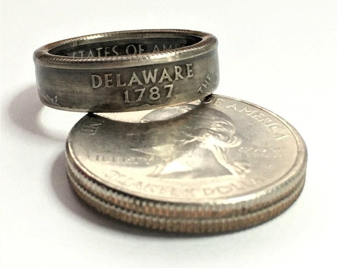 1999 Delaware US State Quarter Coin Ring - Antiqued - Sealed - Gothic Dark Souls Supernatural Cosplay