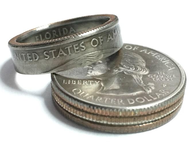 US State Quarter Coin Ring - Antiqued - Sealed - Gothic BOHO - Dark Souls Supernatural Cosplay