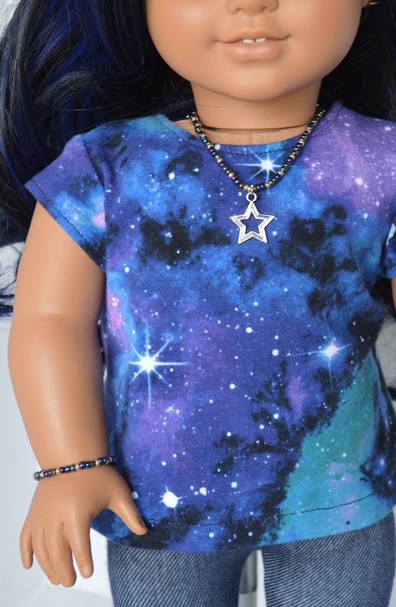"Galaxy Dress Fits 18/"" American Girl Doll Clothes"