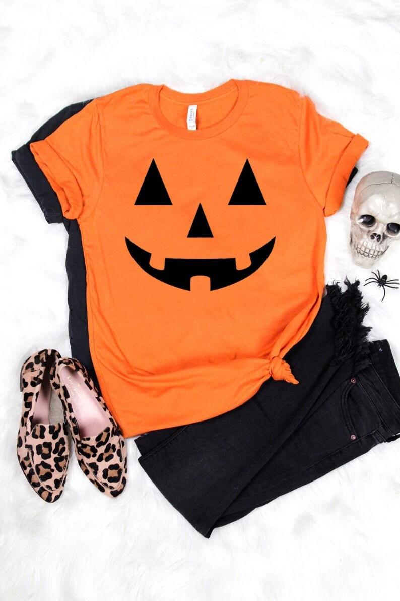 Toddler Jack O Lantern Pumpkin Halloween Day Tee Black