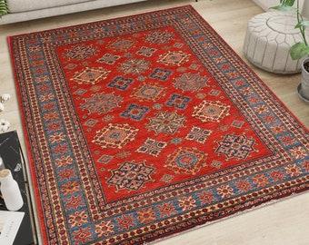 "Turkish Oushak Rug,Anatolian Carpet,Turkish Rug,Tribal Rug Large,Anatolian Rug,Bohemian Rug,Old Carpet,Faded Old Rug Vintage 5'5"" x 8'ft"