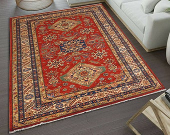 Turkey Rug, Vintage Rug, Bohemian wool rug, Ethnic rug, Oriental rug, Area rug, Bohemian area rug, 5.5 X 7 Ft