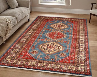 Handknotted Persian Wool And Silk Rug Traditional Oriental Wool Area Rug For Living Room 5.5X8 Ft