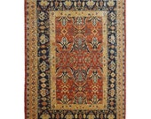 8 X 10 Ft Heriz Rug Excellent Handknotted Traditional Oriental Wool Area Rug