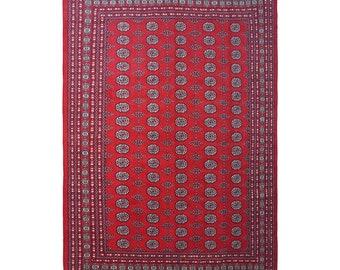 Vintage Bukhara Rug , Turkoman Rug , Turkish Rug , Hand Knotted Rug , Handmade Original Rug , Oushak Rug , Bokhara Rug , Afghan Bukhara Rug