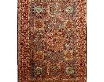 Mamluk Rug,Oversize rug, Large size rug, Oushak rug, Vintage rug, 9.5x12.8 ft, Bohemian rug, Saloon rug, Wool rug, Living room rug
