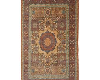 Handmade Mamluk Afghan Rug Tribal Traditional Oriental Wool Area Rug For Living Room 9 X 12 Ft    372 X 272 Cm