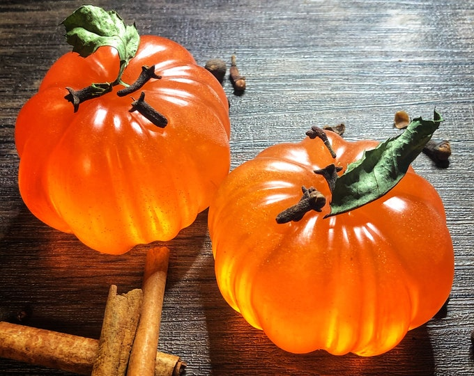 The Kitchen Witch's Pumpkin Patch Prosperity Ritual Bath Soap- Coconut Based, Pumpkin Pie Scented with Essential Oils to Manifest Prosperity