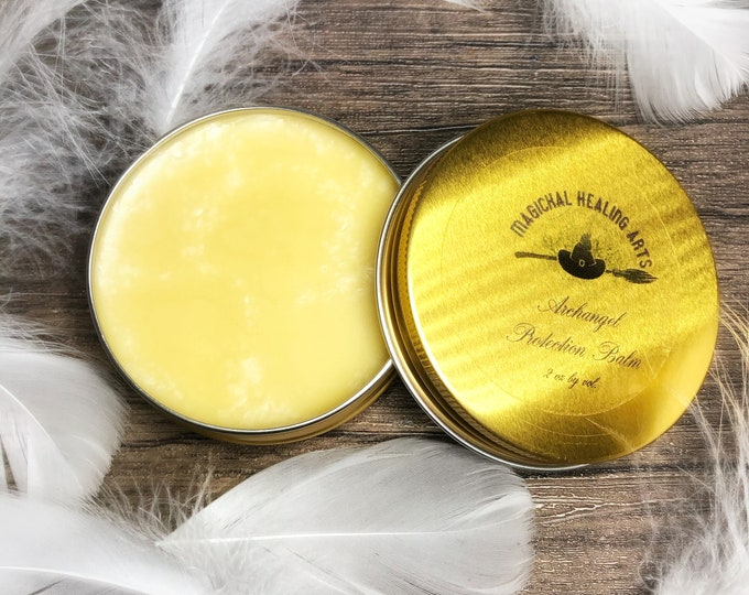 Archangel Protection Balm- 2 Oz. Tin- Draw The Power of The Archangels' Protection- Organic Essential Oil Beeswax Balm
