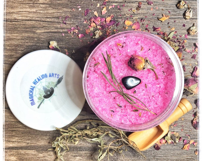 Empath Protection Ritual Bath Salt Scrub- Wash Away Negative Energies! Build Strong Protection Against Energy Vampires! Heal & Protect